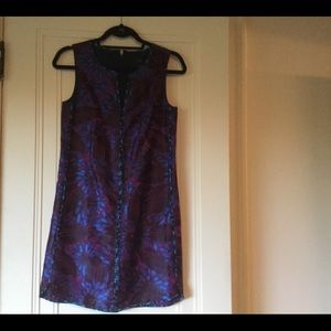 J Crew shift brocade patterned party dress. NWT